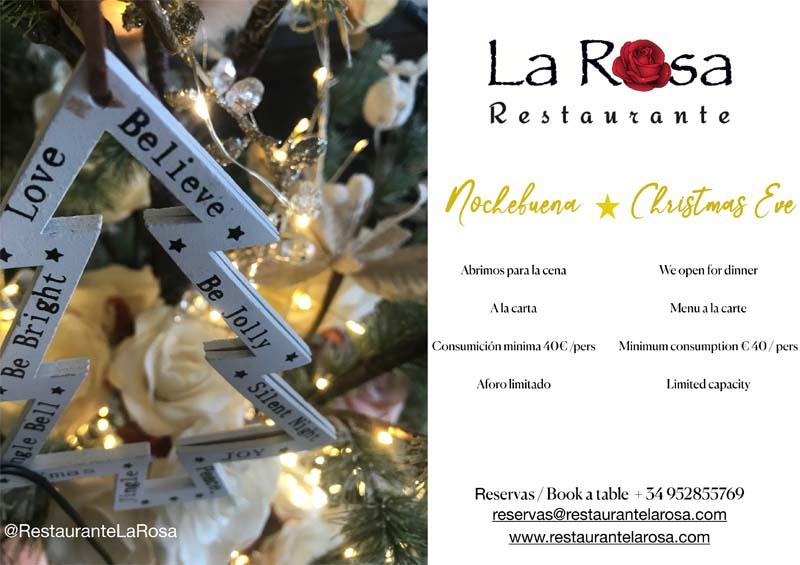 restaurante la rosa marbella nochebuena