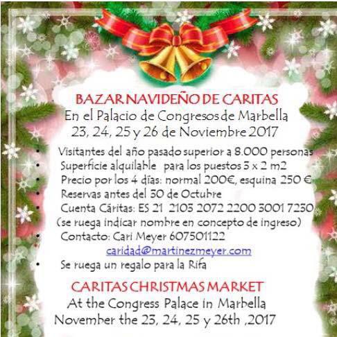 bazar de navidad, caritas marbella
