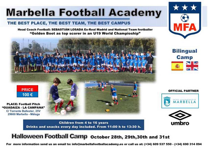 HALLOWEEN FOOTBALL CAMP MARBELLA
