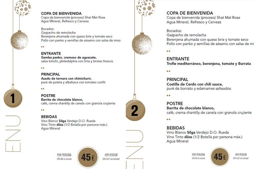 döss marbella restaurante menú navidad
