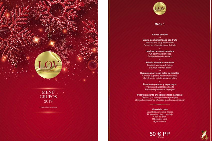 restaurante lov olivia valere marbella menu navidad