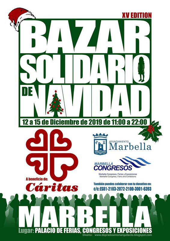 bazar de navidad a favor de cáritas en Marbella