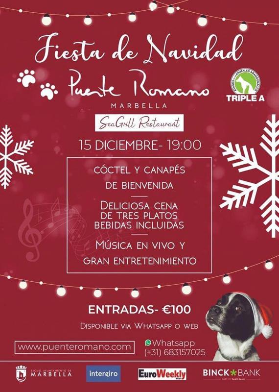 fiesta de navidad puente romano marbella