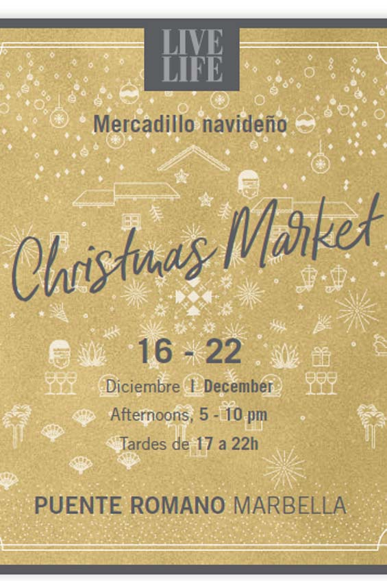 mercado navideño hotel puente romano marbella