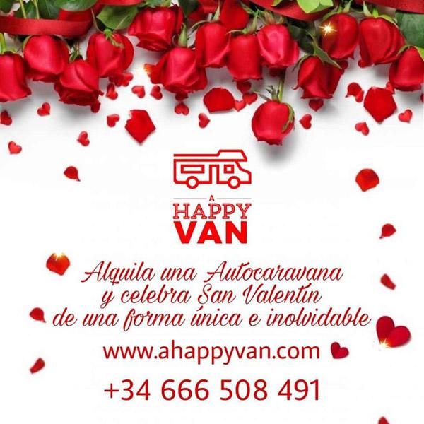 a happy van san valentin marbella