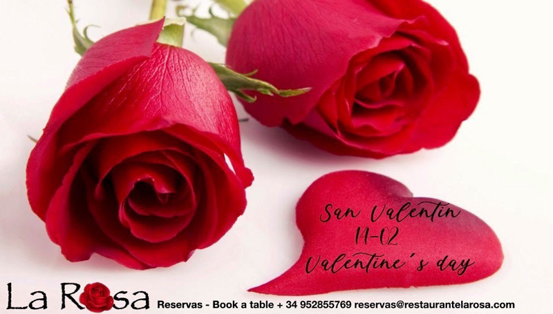 restaurante la rosa marbella san valentin