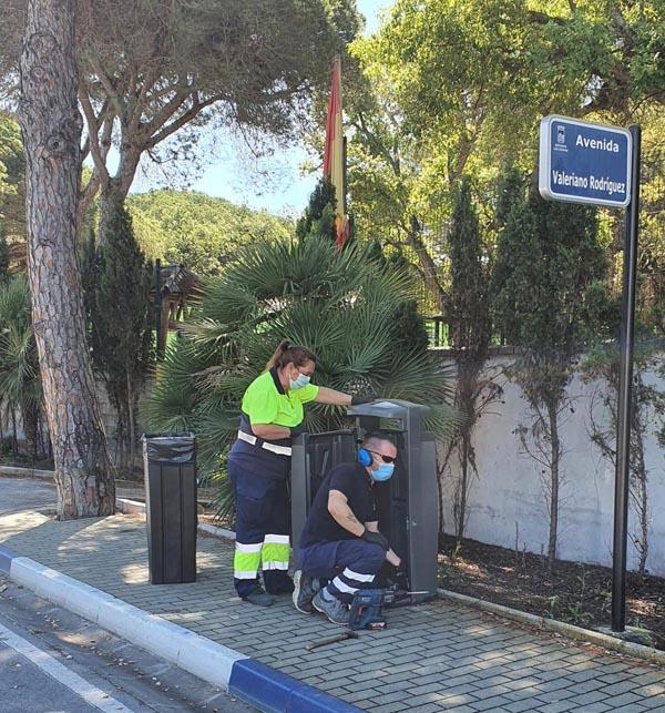 papeleras ayuntamiento de marbella