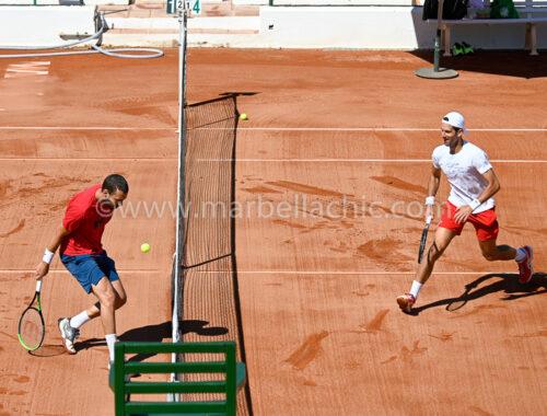Novak Djokovic ya entrena en Marbella