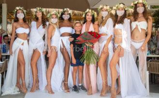 virginia macari y la milanesa en marbella fashionshow