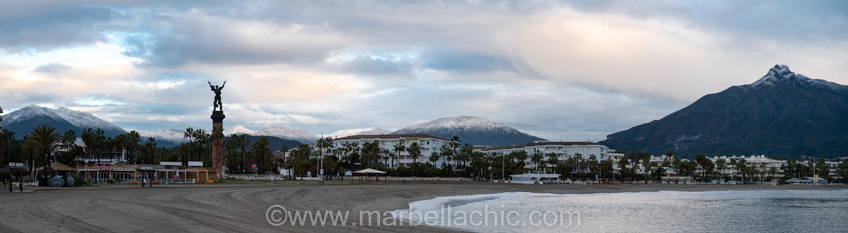 nieve en marbella