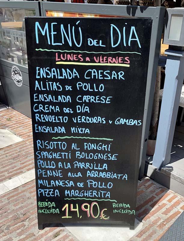 daytona menu