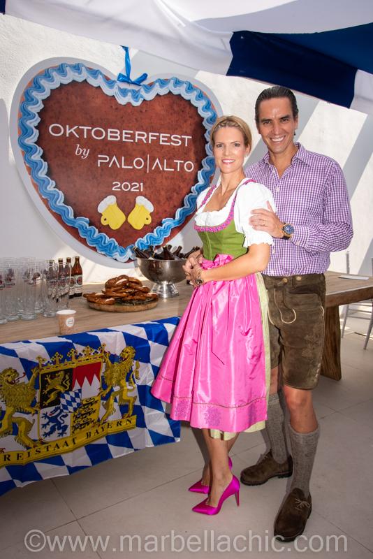 Matías Villarroel y su esposa
